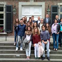Beim Empfang einer spanischen Schülergruppe aus Albacete
