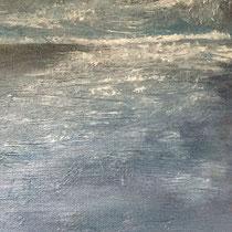 106-13   20-20 cm    8cm tief     Öl auf Leinwand