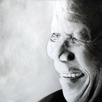 Portrait `Nelson Mandela` Öl auf Leinwand 100x120cm - verfügbar