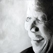Portrait `Nelson Mandela´  Öl auf Leinwand 100x120cm - verfügbar.