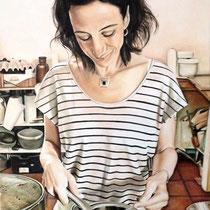 Portrait `Christine` Öl auf Leinwand 130x80cm - verfügbar