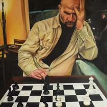 Portrait `Wolfgang`Öl auf Leinwand 120x100cm - verkauft