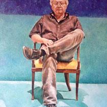 Portrait `Gregor´ Ölmalerei mit Fingern auf Leinwand 80x60cm - verfügbar