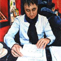 Portrait `Markus´ Ölmalerei mit Fingern auf Leinwand 80x60cm - verfügbar