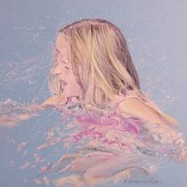 Portrait `Wasser´ Zeichnung in Pastell 30x42cm - verfügbar, Preis auf Anfrage