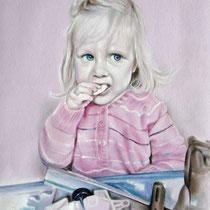 Portrait `Clara` Zeichnung in Pastell 42x30cm (A3) - verfügbar