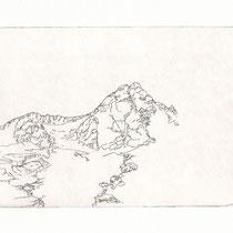 Großglockner, 17,3 x 11,5 cm, Radierung