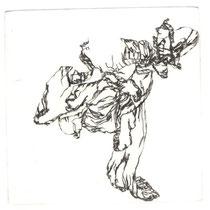 Hochzeitsrose V, 9,9 x 9,9 cm, Kaltnadelradierung