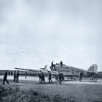 """Die """"Bremen"""" eine halbe Stunde vor dem Start in Baldonnel 12. April 1928"""