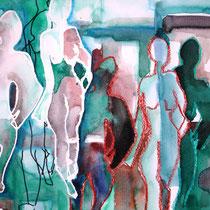 Paare, 2010, 29,7 x 42cm, Aquarell Mischtechnik