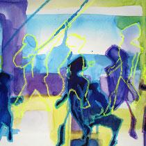 Irritation, 2010, 29,7 x 42cm Aquarell Mischtechnik