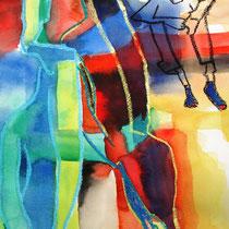 Aliens, 2011, 29,7 x 42cm, Aquarell Mischtechnik