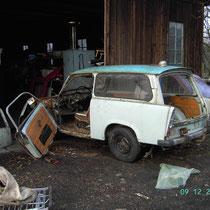 Trabant 601 kombi Bj 77 ist nicht mehr zuretten