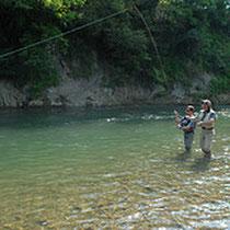 pêche au saumon sur le gave d'Oloron
