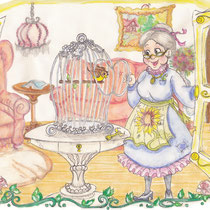 Hermine mit Hansi, children's book illustration