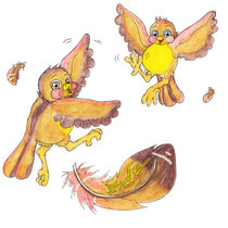 Kanarienvogel, Spatz, Kinderbuchillustrator