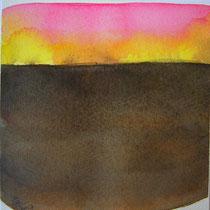 'After summer' 5, aquqrel op papier, 11x11 cm