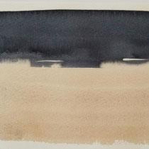 'After summer' 1, aquqrel op papier, 11x17.5 cm
