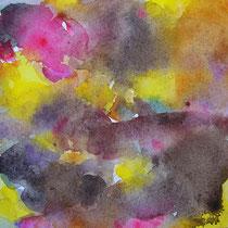'After summer' 4, aquqrel op papier, 11x11cm