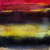 'After summer' 3, aquqrel op papier, 11x11cm