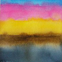 'After summer' 6, aquqrel op papier, 11x11 cm