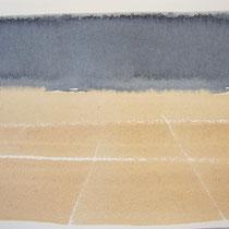 'After summer' 2, aquqrel op papier, 11x17.5 cm