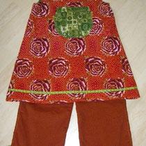 Kombi Tunika und Hose GREETE, Größe 116/122, Baumwollcord & Baumwolle