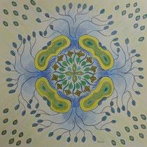 """Mandala 11 """"Blätter"""""""