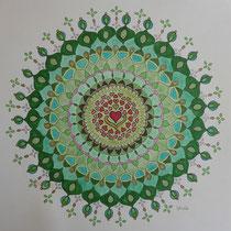 """Mandala 3 """"Das Grüne"""""""