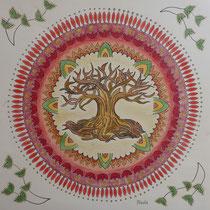 """Mandala 7 """"Der Baum mit Ranken"""""""
