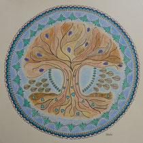 """Mandala 12 """"Baum mit Herzen"""""""