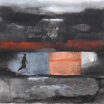 RUN AWAY  - Pigmente auf Leinwand 106x170 cm
