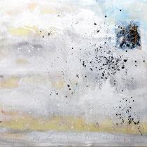 DER ZAUBER DES HIMMELS - Pigmente auf Leinwand 106x170 cm
