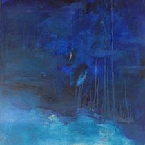 Blaue Welt 2  -  Öl, Pigmente auf Leinwand 120x110cm