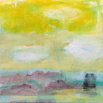 TANZENDER KRIEGER -Pigmente auf Leinwand 106x170 cm