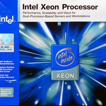 Intel Xeon Prestonia 2.4 GHz SL6NQ Box front view
