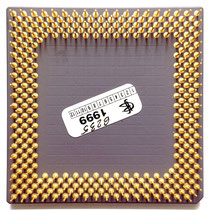 AMD K6-II 450 MHz, picture kindly donated by Edvinas Juodeikis; adjusted for CPUMUSEUM by HARDWARECOP