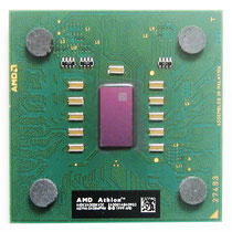 AMD Athlon XP 2400+ Thorton. The Thorton core was a Barton with half of the l2 cache.