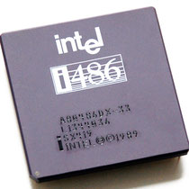 Intel A80486 DX-33 SX419 old logo