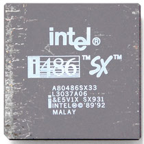 Intel A80486 SX-33 SX931 different printing