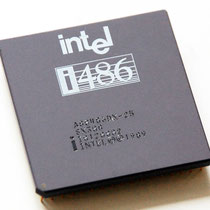 Intel 80486 DX-25 SX308 old logo