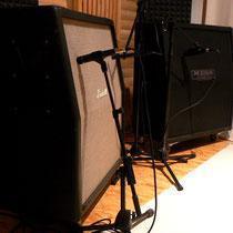 Guitarbox recording im Aufnahmeraum
