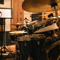 Drumrecording im Aufnahmeraum