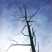 Mitten im Irgendwo | Blue Sky | 120 x 90 cm | Öl auf Nessel | 2017
