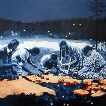 Picknick | 110 x 120 cm | Öl auf Nessel 2013
