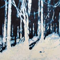 Waldstück | 90 x 120 cm | Öl auf Nessel 2013