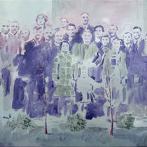 Familienband | 44 x 59 cm | Öl auf Nessel | 2017