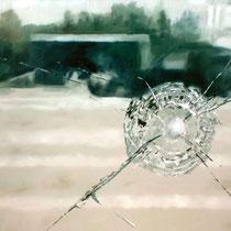Mitten im Irgendwo | Relocation | 90 x  120 cm | Öl auf Nessel | 2017