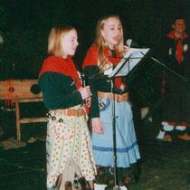 Narrensamen in der Bütt-Nadine Bachinger und Melanie Finkbeiner