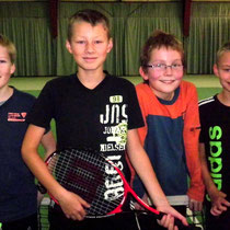 Jungen U12, v.l.n.r. Tom Thorwarth,Stanley Gettinger, Moritz Schröter,Lars Gettinger